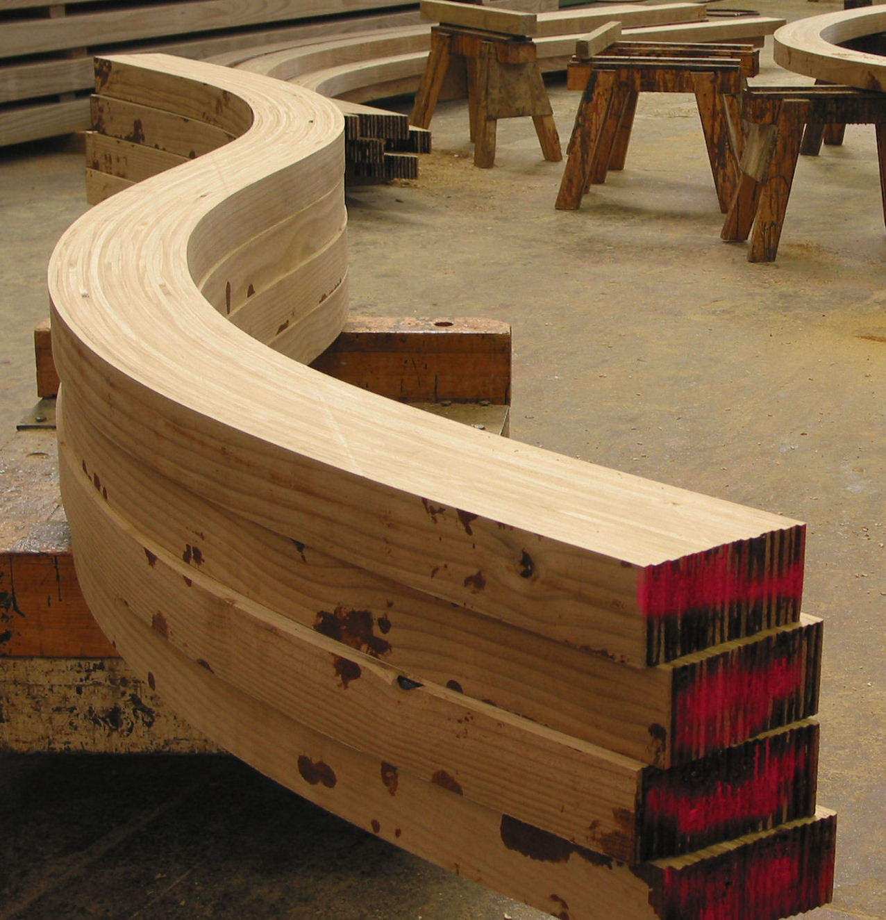 Curved beams and arches timberlab glulam by