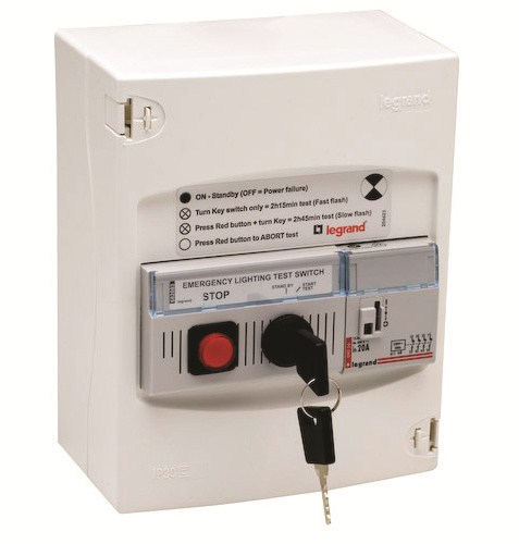 emergency lighting test switch new by legrand nz. Black Bedroom Furniture Sets. Home Design Ideas