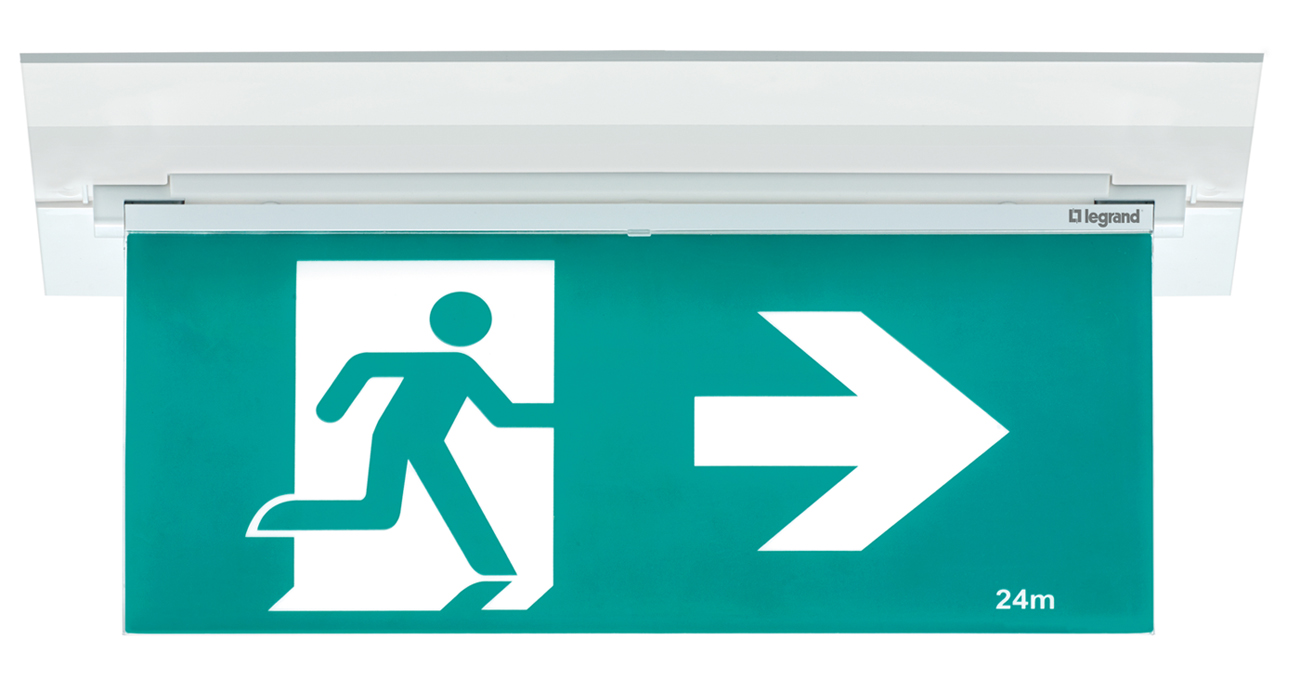 E2 led edgelight emergency exit sign by legrand nz mozeypictures Choice Image
